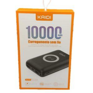 POWER BANK KAIDI 10000mah SEM FIO KD-230