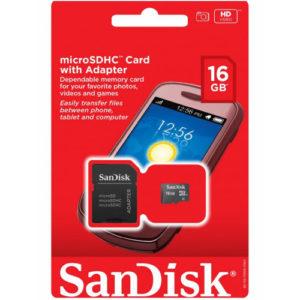 CARTÃO DE MEMÓRIA MODELO MICRO-SDHC CARD SANDISK